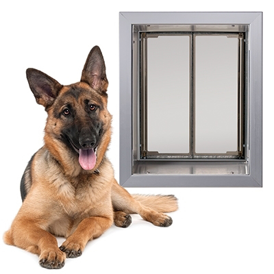 PlexiDor  saloon style K9 COMPOSITE panels - Dog Door